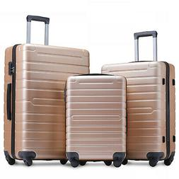 Merax Lightweight Spinner 3 Piece Luggage Sets