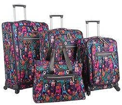Lily Bloom Luggage 4 Piece Suitcase Collection With Spinner