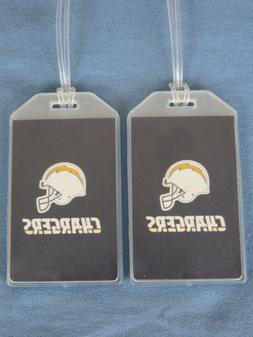 LOS ANGELES CHARGERS LUGGAGE TAGS - SET OF 2 - BOLT LOGO - T