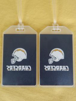 LOS ANGELES CHARGERS LUGGAGE TAGS SET of 2 - LIGHTNING BOLT