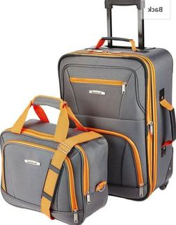 rockland luggage 2 piece set Charcoal
