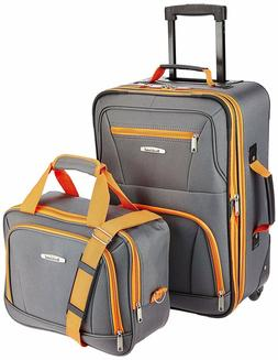 Rockland Luggage 2 Piece Set, One Size,Zipper,Travel,Clothes