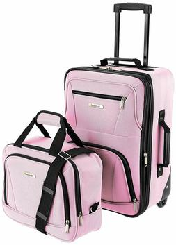 c4b357ea8 Rockland Luggage 2 Piece Set, Pink, One Size