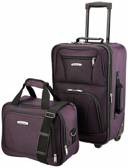 Rockland Luggage 2 Piece Set, Purple, One Size - Travel Lugg