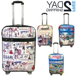 luggage 25 suitcase trolley wheeled spinner travel