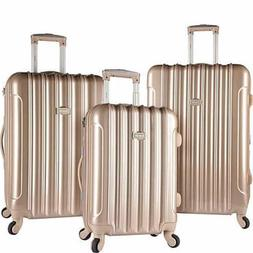 Kensie Luggage 3 PC Expandable Hard Side Luggage Set Pale Go