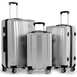 Goplus Luggage 3 Piece Set Expandable Lightweight Hardside S
