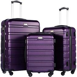 luggage 3 piece set suitcase spinner hardshell