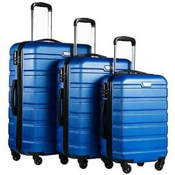 Coolife Luggage 3 Piece Set Suitcase Spinner Hardshell Light