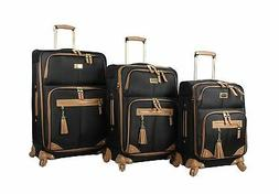 Steve Madden Luggage 3 Piece Softside Spinner Suitcase Set C