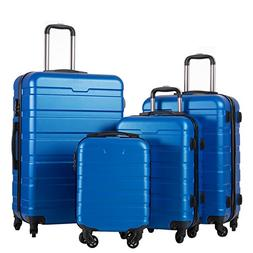COOLIFE Luggage 4 Piece Set Suitcase Spinner Hardshell Light
