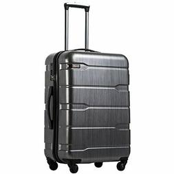 COOLIFE Luggage Expandable Suitcase |Charcoal.)