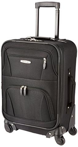 Rockland Luggage 19 Inch Expandable Spinner Black Carry On