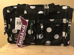 """Rockland Luggage Freestyle 19"""" Tote Bag Black Dot New with T"""
