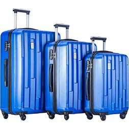 Merax Luggage Hardside Spinners Set 3 piece Luggages Suitcas