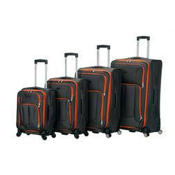 ROCKLAND Luggage Impact Soft Side Set Lightweight Spinner Wh