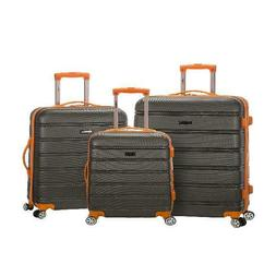 Rockland Luggage Melbourne 3 Piece Hardside Luggage Set