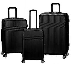 Rockland Luggage Pista 3 Piece Hardside ABS Non-Expandable L