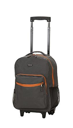 Rockland Luggage Roadster 17 Rolling Backpack Wheels  - Char