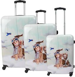 Luggage Set 3 Piece Hardside Spinner with 4 Multi Directiona