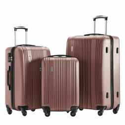 Luggage Set 3 Piece Suitcase Set Spinner Hard Shell Lightwei