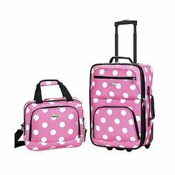 2 Piece Luggage Set - Color: Blackdot