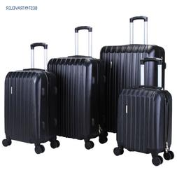 4Pcs ABS Luggage Trolley Carry On Travel Case Bag Spinner Ha