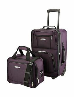 luggage set black one carry