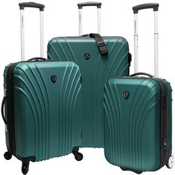 Luggage Set Green 3-Piece Traveler's Choice Cape Verde Hards