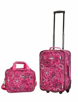 Rockland 2 PC Luggage Set 20 in Light weight Carry On Suitca