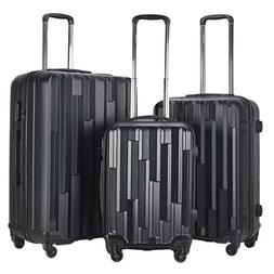 Goplus Luggage Set of 3 Carry On GLOBALWAYLight Weight ABS H