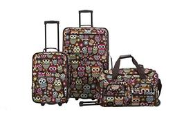 "ROCKLAND 3 PC LUGGAGE SET OWL F165-OWL Luggage 18"" x 11"" x 2"
