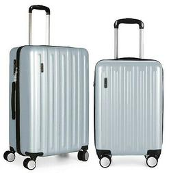 Luggage Sets 2 Piece Hard Shell with Spinner Wheels Silver 2