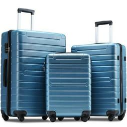 Luggage Sets 3 Pcs Spinner Suitcase with TSA Lock Lightweigh