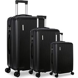 DFAVORS Luggage Sets Carry on Suitcase Set Hardside Expanda