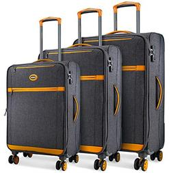 SHOWKOO Luggage Sets Expandable 3 Piece Softshell Lightweigh