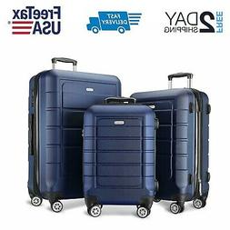 SHOWKOO Luggage Sets Expandable PC+ABS Suitcase Double Wheel