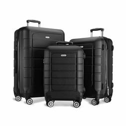 SHOWKOO Luggage Sets Expandable Suitcase Double Wheels TSA L