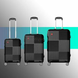 "Luggage Sets Trolley ABS Spinner Hard Shell Suitcase 20"" 24"""