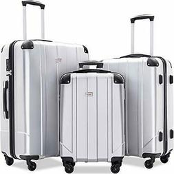 Merax Luggage Sets with TSA Locks, 3 Piece Lightweight P.E.T