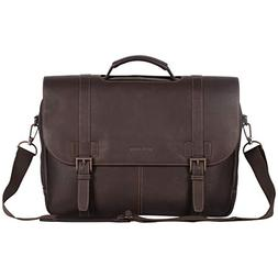 Kenneth Cole Reaction Colombian Leather Dual Compartment Fla