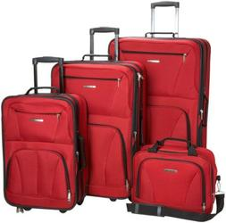 Rockland Luggage Skate Wheels 4 Piece Set, Red, One Size