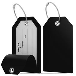 luggage tags with full back privacy cover