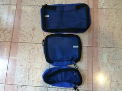 Luggage toiletries bags, material, blue, set of 3