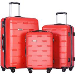 luggages 3 piece luggage set lightweight spinner