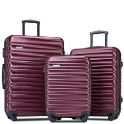 Merax Luggages 3 Piece Luggage Set Lightweight Spinner Suitc