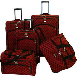 American Flyer Madrid 5 Piece Spinner Luggage Set 4 Colors