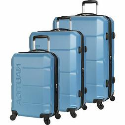 Nautica Marine Blue Stern 3 Piece Expandable Spinner Luggage