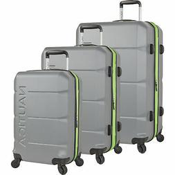 Nautica Marine Grey/Lime 3 Piece Expandable Spinner Luggage