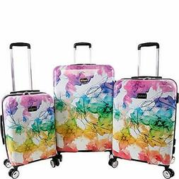 BEBE Megan 3pc Suitcase Set with Spinner Wheels